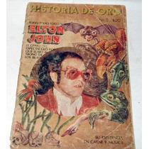 Kcg Revista Especial Elton John, Historia De Oro 1976