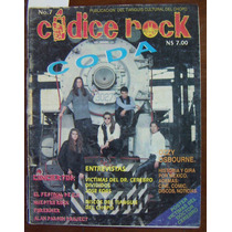 Revista Códice Rock, Grupo Coda En Portada # 7