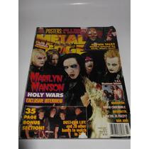 Marilyn Manson Revista Metal Edge Slipknot Megadeth Bon Jovi