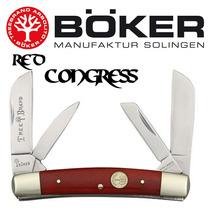 Navaja Boker Red Congress 4 Hojas Acero Al Alto Carbon