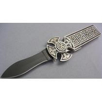 Cuchilla Celtica De Metal Hoja De Acero C/filo Au1