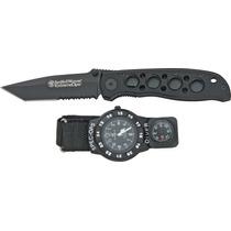 Swwso2 Smith & Wesson Extreme Ops Combo Navaja Y Reloj Vv4