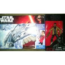 Finn Black Series Star Wars + Halcon Milenario Nuevos