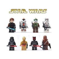 Star Wars Figuras 8pcs / Lot Edificio Bloks Establece Juguet
