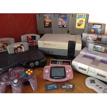 Consolas Colección Nintendo Snes Nes Gameboy N64 Mario
