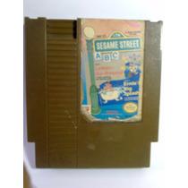 Juego Nintendo Nes Plaza Sesamo Abc+2 Funcionando Bien