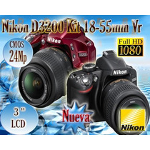 Nikon D3200 24.2mp Cámara Réflex Lente 18-55mm Vr Hd Kit