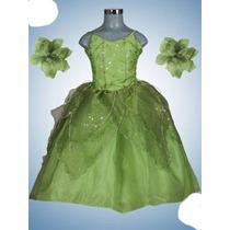 Vestid Princesa Disfraz Tiana De Campanita Desmontable