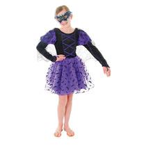 Traje Bat - Medio Niñas Princesa Disfraces De Halloween