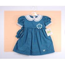 Vestido Niña, Manga Corta, Cuadros Azules Jessy Franz