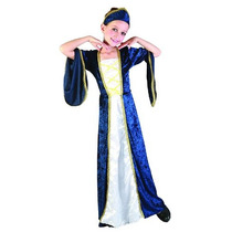 Princesa Costume - Niños Niñas Azul Medio Regal Royal Robe