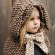 Gorro Conejo Tejido A Mano Crochet