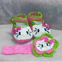 Zapatos De Kitty Tejidos