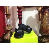 Zapato Fiesta Formal Bebe Negro Flor Num 10 Princesa Niña