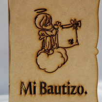 Juego Bautizo Repujado Caja Angel10