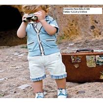Ropa De Moda Para Niños Vanguardistas 2 Piezas