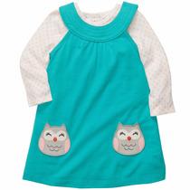 Vestido Carters Niña Conjunto Con Pañalero Ml, 24 Meses