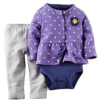 Conjunto De 3 Piezas Para Bebe Morado Y Azul Carter