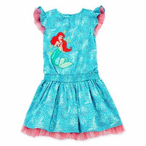 Vestido Disney Ariel La Sirenita 2t Audreykids