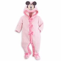 ~mameluco Grueso Velour Rosa Cara De Mimi De Disney Store