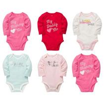 Pañalero Carters Manga Larga Bebé Niña - Varias Tallas