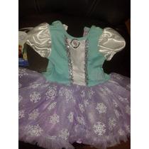 Pañalero Para Bebe Con Vestidito Elsa Frozen Disney Hermoso!