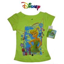 Playera Nina 2 Anos Campanita Disney Verde Blusa Blusita