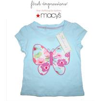 Blusa Blusita Azul 12 Meses 1 Ano Nina Bebe Macys Mariposa!!