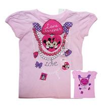 Playera Rosa Mimi Minnie Mouse Con Corazón