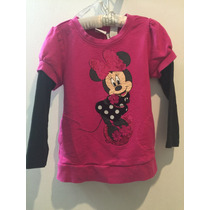 Blusa Minnie Mouse , Rosa Fiusha Talla 2, Disney Store