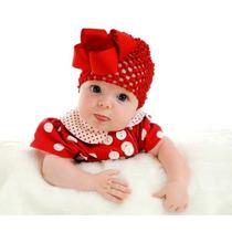 Preciosos Gorritos De Crochet Para Bebas De 0- 24meses