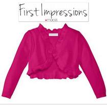 Sueter 3/6 Meses Rosa Macys First Impressions Nina Torera Ve