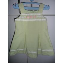 Vestidito Youngland Color Verde Talla 2