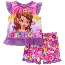 Pijama Blusa Shorts Disney Princesa Sofia T3 Envio Gratis