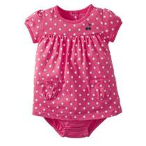 Vestido Con Pañalero Rosa Para Niña Carters 12 Meses