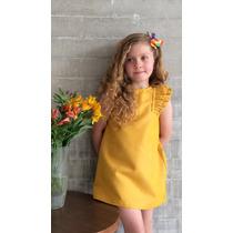 Vestido Para Bebé En Color Amarillo, Rosa Y Verde