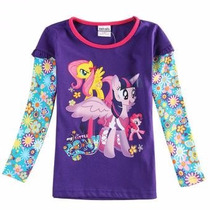 Ropa Blusa Manga Larga My Little Pony Equestria Girl Rainbow