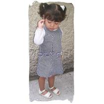 Vestido De Pata De Gallo Tallas 1 . 2 . 3 . 4 Años
