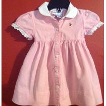 Vestido Ralph Lauren 9 M Tierno Bebe Princesa Rosa Claro.