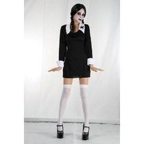 Addams Family Vestuario - Creepy Colegiala Del Niño Grande