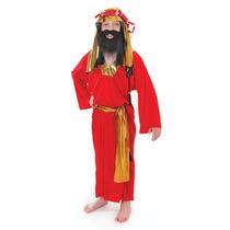 Sabio Traje - Mediano Niños Rojo Reyes Magos Navidad