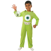 Monsters Inc Disfraces - Niños Grandes 7-8yrs Mike Wazowski