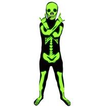 Esqueleto Morphsuit - Glow Niños Childs M Terror