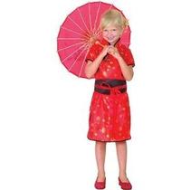 Traje Chino - Niños Chicas Pequeño 4-5 Años China Roja Fa
