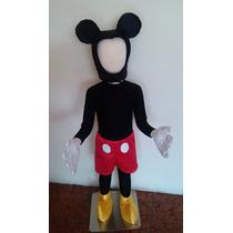 Hermoso Disfraz Mickey Mouse Con Orejas Y Cubre Zapatos