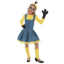 Deluxe Minion Chica Jumper Vestuario Para Niños