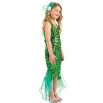 Little Mermaid Costume - Chica Grande - Para Niños De Child