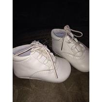 Zapatos De Bebe Talla9centimetros Color Hueso De Piel