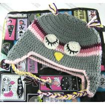 Gorras De Búho Tejidas Estambre Crochet Para Adulto Y Bebé
