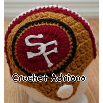 Gorro Futbol Americano Tejido Crochet